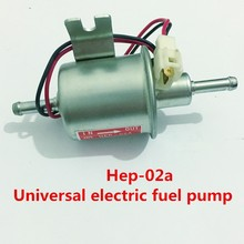 Universal diesel petrol gasoline 12v electric fuel pump HEP-02A low pressure fuel pump For Carburetor,Motorcycle,ATV(China)