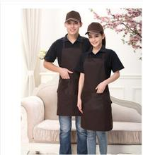 Men's Restaurant Creative Chef Aprons Contamination Prevention Wear Cooking Hook Neck Apron Kitchen Cafe Hotel Female(China)