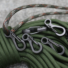 5 PCS Spring Buckle Snap Alloy Nickel-free Plating Mini Key Ring Carabiner Bottle Hook Paracord Camping Accessories Travel Kits