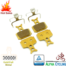 Bicycle Disc Brake Pads For Formula RR1, R1R, R1, RO, RX, T1, Mega Disc Brake, 2 Pairs/Order, Gold Full Metal