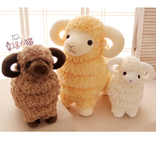 Candice guo! Newest arrival cute plush toy sheep lovely stuffed doll lamb birthday gift 1pc
