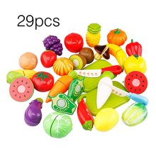 29Pcs/Set Kids Kitchen Toys Fruit Vegetable Cutting Food Play Early Development and Education Toys for Baby Pretend Play Toys(China)