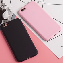 Solid Candy Color Matte Skin Case for iPhone 6S 7 Plus TPU Rubber Soft Silicone Matte Soft Back Cover for iPhone 6 6S 5 5s SE