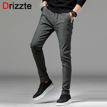 Drizzte Summer Lightweight Korean Style Stretch Pants Casual Slim Fit Dress Slacks