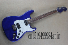 Free Shipping Top Quality Stratocaster Custom Body blue neck Rosewood fingerboard Electric Guitar  @32