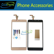 1pc/Lot High Quality For Leagoo M8 5.7Inch Touch Screen Digititer Touch Panel Lens Glass With Tool &Tape Black Gold Color(China)