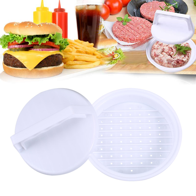 Plastic Patty Meats Burger Maker Mold Hamburger Meat Press Tool Set BBQ DIY Hamburgers Tools Kitchen Accessories Hot Sal