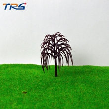 ARCHITECTURAL MODEL MAKING Train Layout Model Willow Trees Height 4.9cm Scale Garden Scenery Railroad landscape Model Tree Arms
