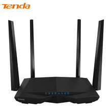 Tenda AC6 Wireless WiFi Router, 1200Mbps 11AC Dual Band WiFi Repeater 802.11ac WPS WDS App Control PPPoE, L2TP EU/US/RU Firmware(China)