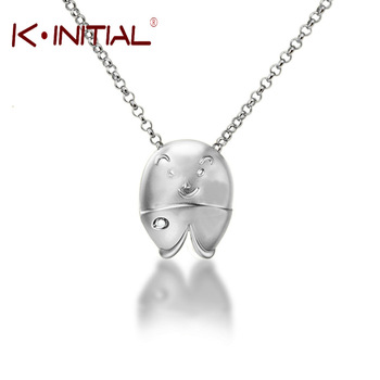 Kinitial 1Pcs Fashion Fish Pendant 925 Silver Collar Necklaces Animal Design Women Statement Jewelry Trendy Bib Female Necklace