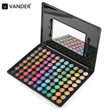 Cool 88 Colors Neutral Eyeshadow Eye Shadow Cosmetics Mineral Make Up Professional Shimmer Makeup Pigment Palette Kit & Mirror(China)