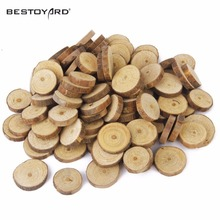 1.5-9CM Wood Log Slices Discs Embellishments Small Mini Shape For Craft Decoration For DIY Crafts Wedding Centerpieces(China)