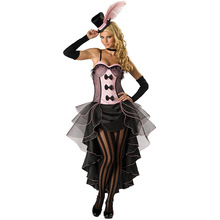 Burlesque Can Dancer Costume Fancy Cowgirl Dress