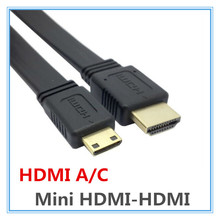 1.5M Mini HDMI to HDMI Male to Male HD Cable 1.4V Supports 3D Flat Line For SLR Camera Camcorder for canon(China)