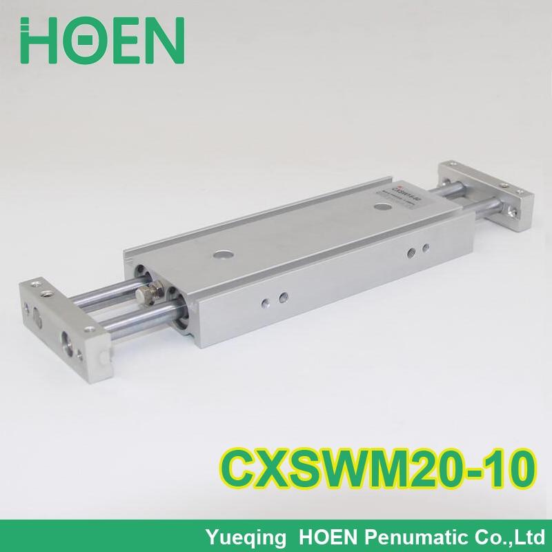 CXSM CXSJ CXSW series CXSWM20-10 20mm bore 10mm stroke dual rod cylinder slide bearing double rod pneumatic cylinder CXSW20-10<br>
