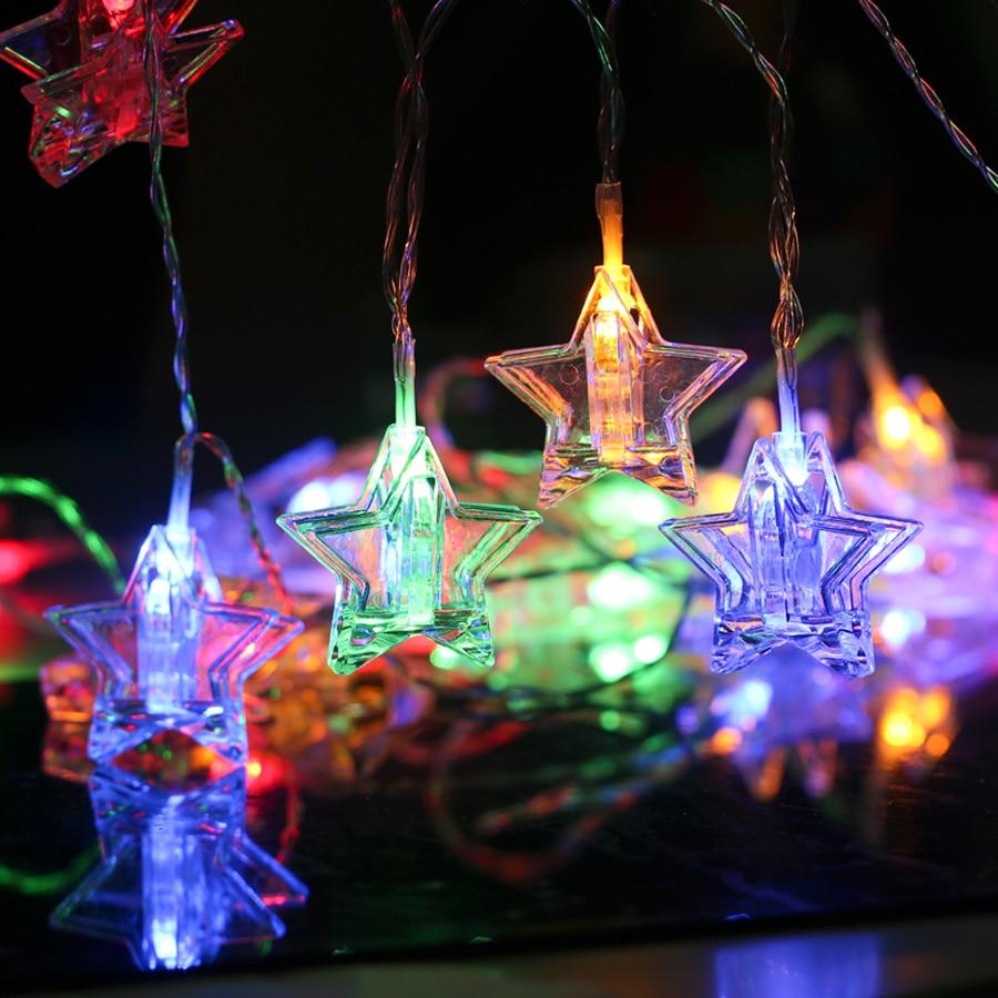 LED Star Garland String Lights 1.5M 3M 6M LED Card Photo Clip Light Wedding Party Christmas DIY Decoration 9