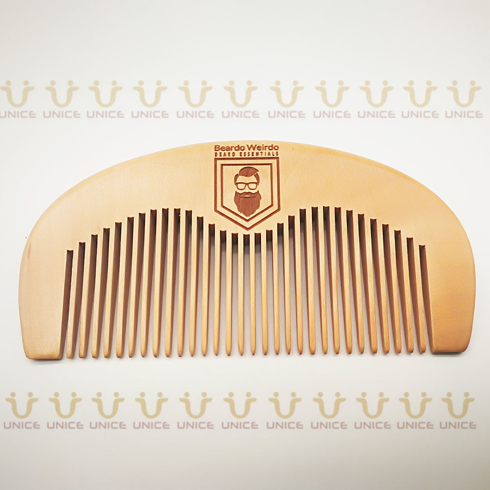 100pcs/lot Your LOGO Customized Private Label Combs Hair Beard Wood Comb for Men & Women for Barber Shop Retail Case 29