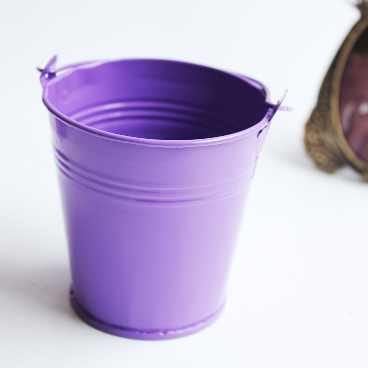 10x purple baby shower favors candy boxes for wedding small mini round tin candy buckets colored