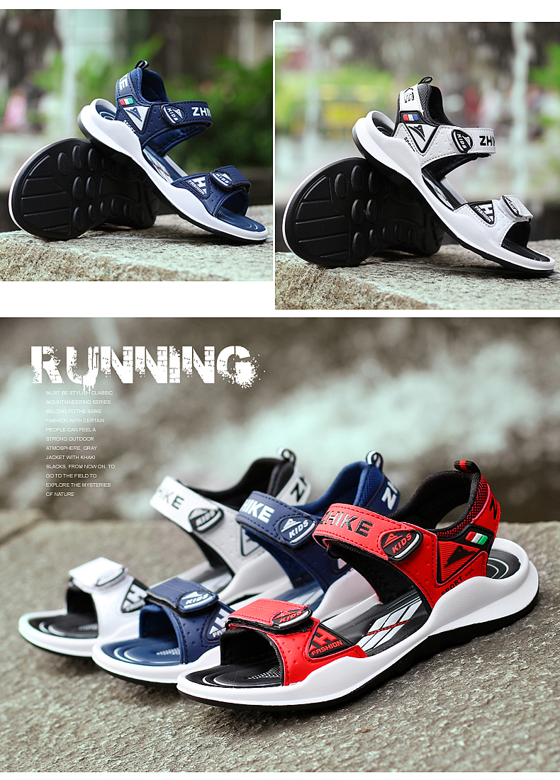 Children's Shoes Summer Open Toe Boys Sandals Sports 11 Non-slip 12 Primary School Students 15 Years Old Children's Beach Shoes 11 Online shopping Bangladesh