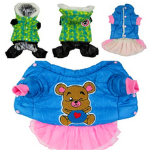 Fashion Dog Coat Winter Pet Dress Girl&Boy Jumpsuit Clothes Chihuahua Teddy Dog Clothing Pet Costume Cat Jumper Rompers