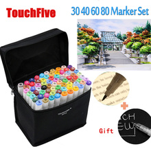 TOUCHFive 198 Artist Dual Headed Alcohol Based Touch Marker Pen Set Animation Manga Design Drawing Copic Sketch Art Supplies