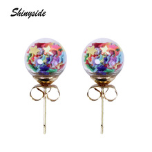 2016 new design fashion brand jewelry Christmas stud earrings for women lovely star handmade Glass beads statement gift earrings