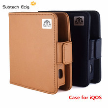Electronic cigarette Hotest PU Leather Box Holder Storage Case for iQOS Mod Pocket Charge e-cigarette(China)