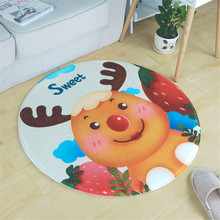 Buy Cartoon Elk/Kitten Soft Carpet Living Room European Home Warm Plush Floor Rugs Mats Faux Fur Area Rug Living Room Mats LST for $11.61 in AliExpress store