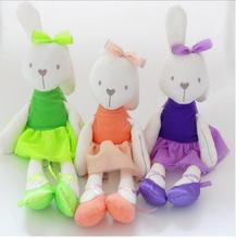 Free Shipping Rabbit Little bear Toys Soft Plush Rabbit Dolls Infants Animal Teddy Baby Sleeping Comfort Doll 42cm Wholesale