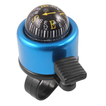 Good deal New Bicycle Bike MTB Loud Speaker Handlebar Bell Ring with Compass Metal Blue(China)