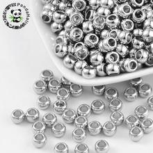 200pcs Flat Round CCB Acrylic Spacer Beads Large Hole Scarf Beads for jewelry making, about 5mm long, 7mm wide, hole: 4mm(China)