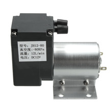 Micro DC12V 6W Air Vacuum Pump Negative Mini Pressure Suction Pump 12L/min 120kpa With Holder Stable Quality(China)