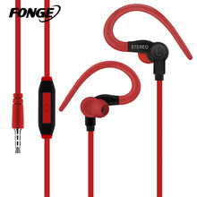 Fonge Sport Headphone Earphone 3.5mm Jack Wired Best Bass In-Ear headset Handfree Universal fone de ouvido With Mic