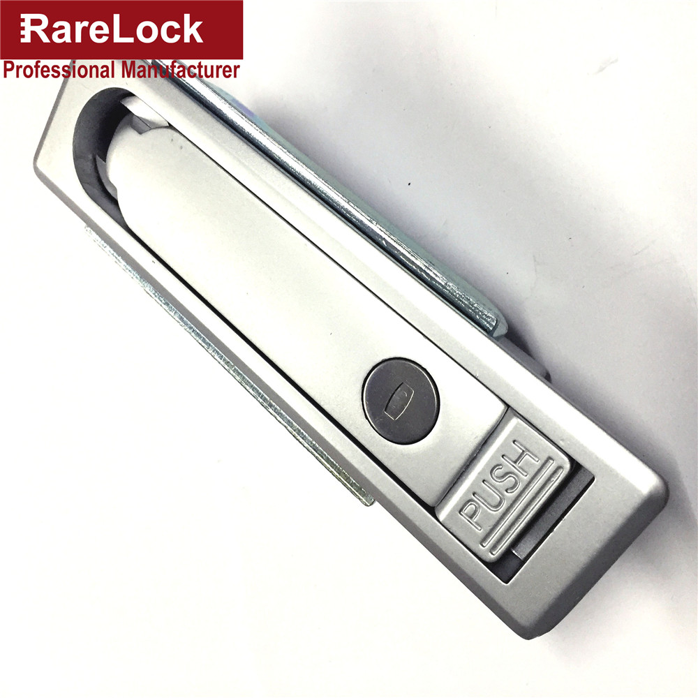 Rarelock Electrophoretic Paint Silver Professional Manufacture Zinc Alloy Simple Locker Bus,Truck,Cabinet,Box Lock Cerradura g<br>