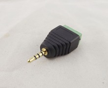 10pcs 2.5mm TRRS Stereo 4 Pole Male Plug To AV Screw Video Balun Terminal Adapter(China)