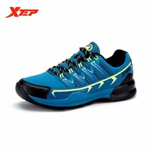 XTEP Brand Cheap Running Shoes for Men Athletic Sneakers Damping Sports Shoes Autumn Winter Leather Men's Shoes 984419119083