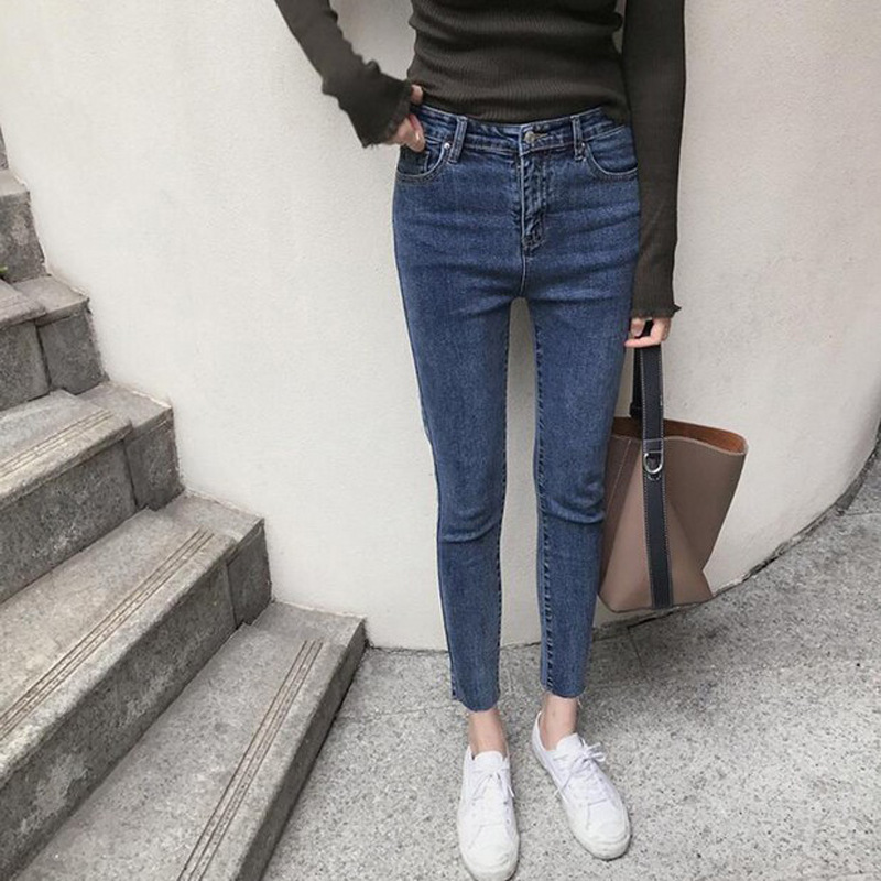 High Waisted Jeans Skinny Women Fashion New Autumn High Waist Denim Pants 4XL Plus Size Trousers Pencil Pants Female