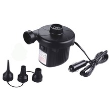 DC 12V Electric Air Pump For Air Bed, Mattress, Inflatable Boat, Pool, Sofa or Toy with Car Charger and Household AC 110V-220V