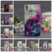 3D Style Cartoon Flower Zebra Clear Back Cover Soft TPU Case For Lenovo Vibe Shot Z90 Z90-7 Slim Thin TPU Phone Case()