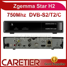 2015 New! satellite reciever Zgemma star H2 751MHZ twin tuner DVB-S2+T2 Enigma2 Linux Zgemma-star H2 replace Cloud ibox III se