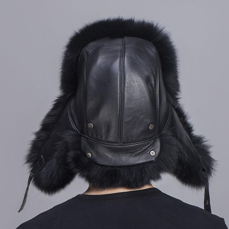 big fur hat black fox fur 4