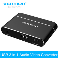 Vention USB Audio Adapter USB to HDMI VGA Audio Video Converter Full HD Digital AV Converter For iPhone 8 Android Phones Samsung(China)