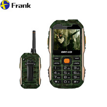 GRSED 8800mAH  E8800 Walkie talkie Waterproof IP67 Shockproof Dustproof phone PTT 8800mAH Big Battery Torch Dual SIM Phone a12