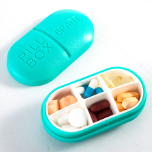 4 Colors Portable WaterProof Mini 4/6Slots Medicine Case Drug Pill Case Storage Box Bottle Case Holder(China)
