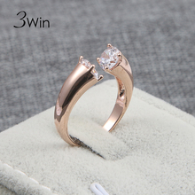 3Win European American Designs Brand Fancy Modern Anel Factory Elegant Open Party Rings Cool Jewelry For Women Surprise Gifts