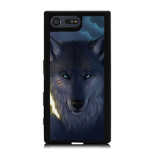 Blue Wolf Head Printed Mobile Phone Case Cover For Sony Xperia X XZ X Compact Z5 Z5 Compact Soft TPU Skin Hard Back Shell Cover