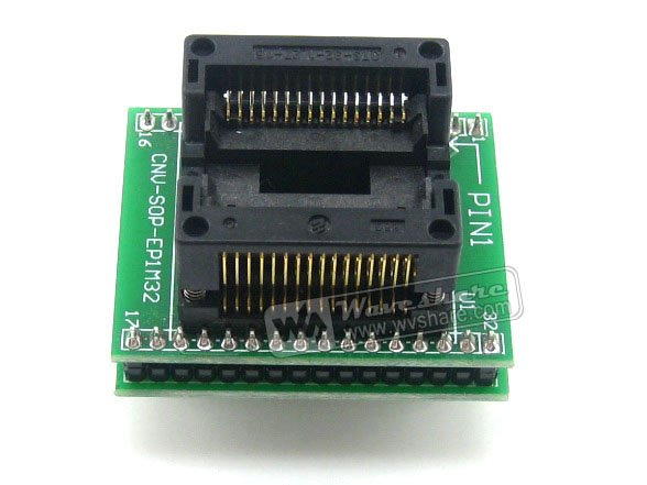 Modules SO32 SOIC32 SOP32 TO DIP32 (B) OTS-32-1.27-16 Adapter Enplas IC Test Socket 1.27mm Pitch 11.25mm Width<br>