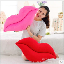 1pcs 52*26cm creative novelty item funny women big mouth shape cushion pink red lip plush toy throw pillow for couch pregnancy