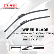 """Wiper Blade Mercedes Benz CLK Class W209 (2002-2009) 1 set 22""""+22"""",Flat Aero Beam Windscreen Wiper Frameless Soft Blades"""