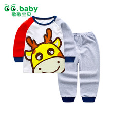 2017 New Cotton Baby Clothing Set Autumn Brand Newborn Clothes Long Shirt Pants Bebes Suits Cheap Infant Boys Girls Clothes Sets